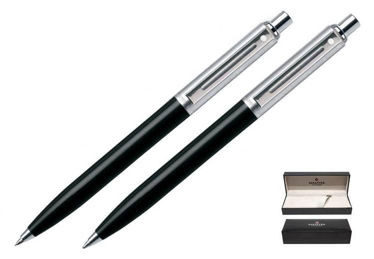 321 SET BPPC Zestaw (długopis i ołówek automatyczny) Sheaffer Sentinel czarny, wykończenia niklowane