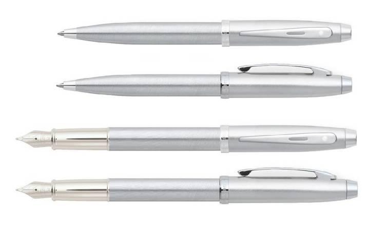 9306 Zestaw (pióro wieczne i długopis) Sheaffer kolekcja 100, chrom, wykończenia chromowane