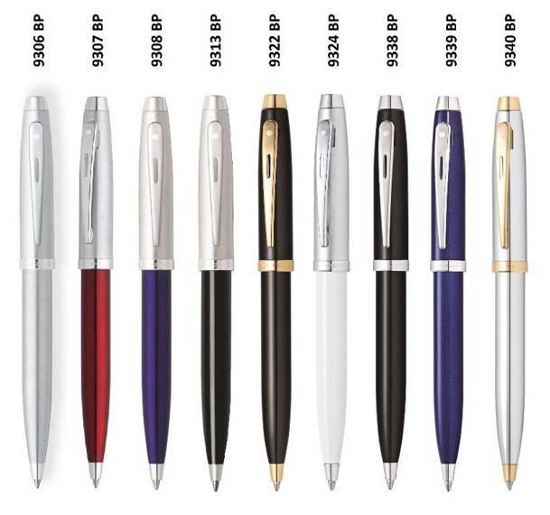 9307 BP Długopis Sheaffer kolekcja 100, czerwony, wykończenia chromowane
