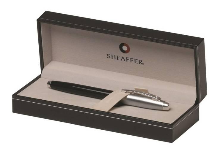 9313 PN Pióro wieczne Sheaffer kolekcja 100, czarne, wykończenia chromowane
