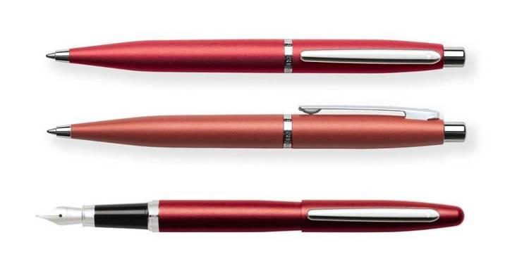 9403 Zestaw (pióro wieczne i długopis) Sheaffer VFM, czerwony, wykończenia niklowane