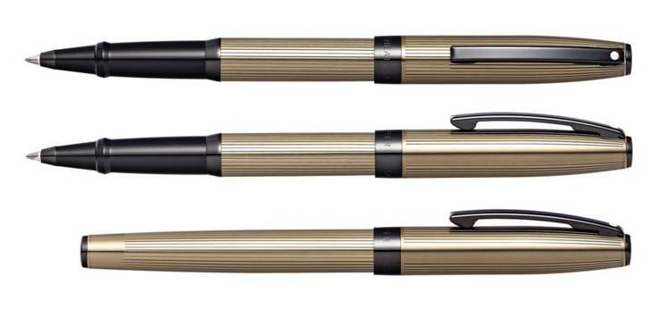 9482 Pióro kulkowe Sheaffer kolekcja Sagaris, brązowe, wykończenia czarne PVD
