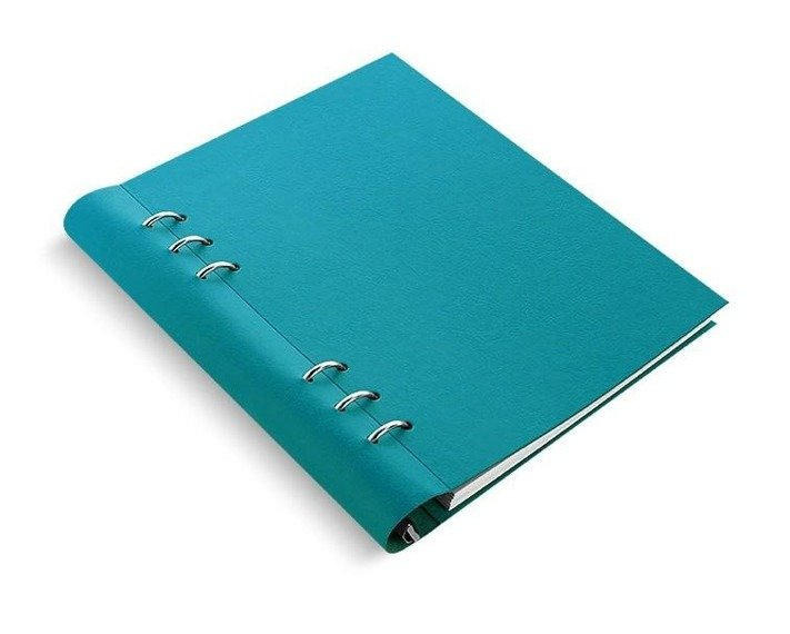 Clipbook fILOFAX CLASSIC A5, notatnik i terminarze bez dat, turkusowa okładka