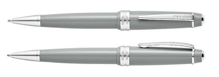 Długopis Cross Bailey Light szary, elementy chromowane