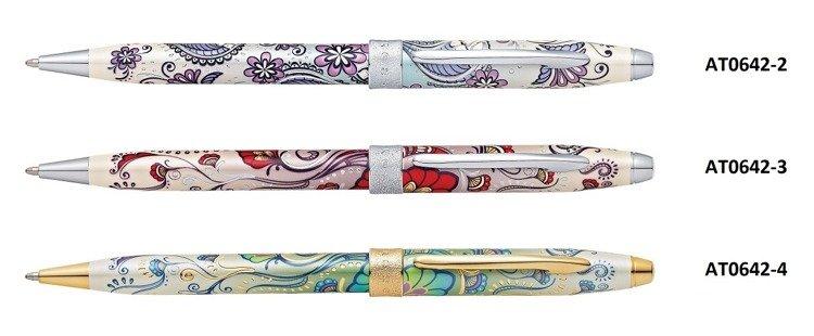 Długopis Cross Botanica Red Hummingbird, motyw czerwony, elementy chromowane