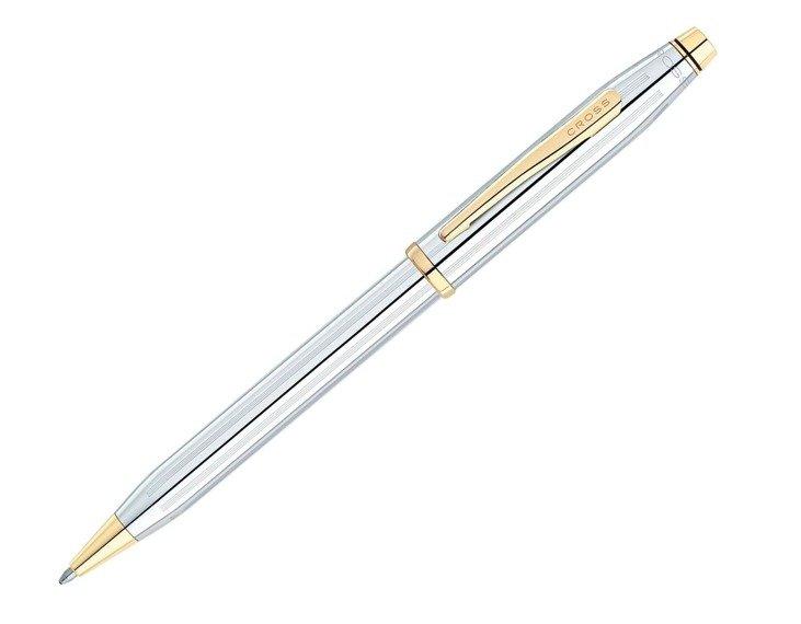 Długopis Cross Century II chrom, elementy pokryte 23k złotem