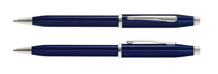 Długopis Cross Century II niebieski, elementy anodyzowane rodem