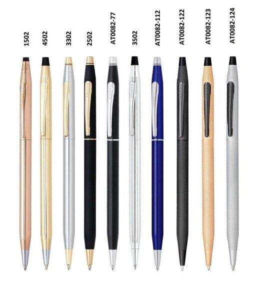 Długopis Cross Classic Century niebieski, elementy chromowane