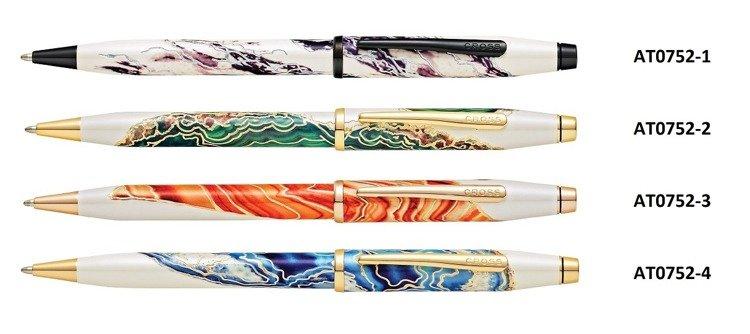 Długopis Cross Wanderlust Antelope Canyon z czerwonym motywem, elementy pokryte różowym złotem
