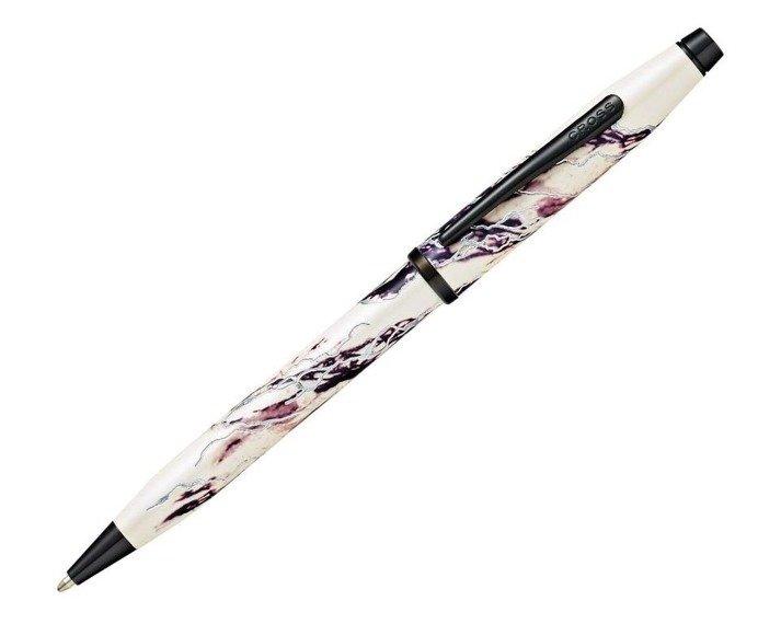 Długopis Cross Wanderlust Everest czarno-biały, elementy czarne