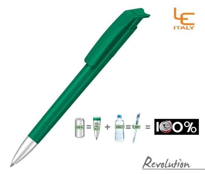 Długopis LE ITALY Revolution solid ALrPET ciemnozielony