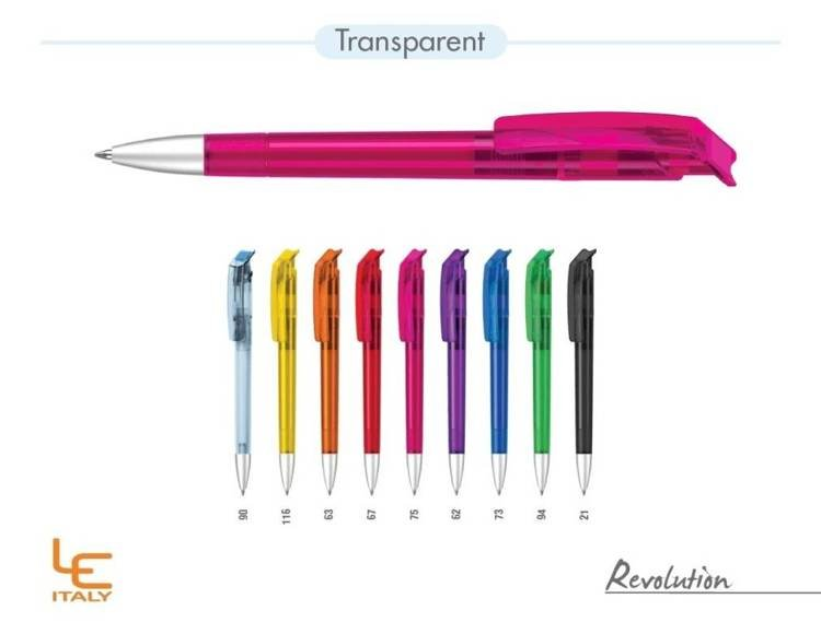 Długopis LE ITALY Revolution transparentny ALrPET niebieski