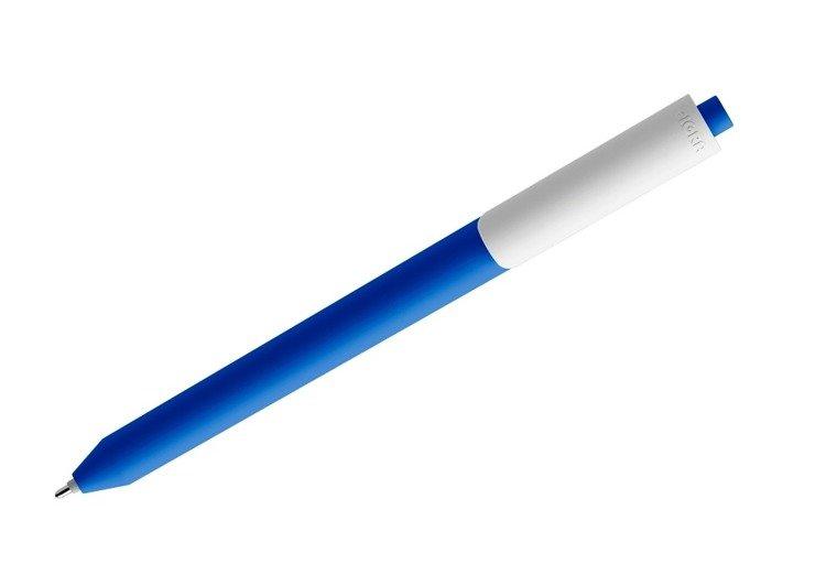 Długopis PIGRA P03, ciemnoniebieski z białym klipsem