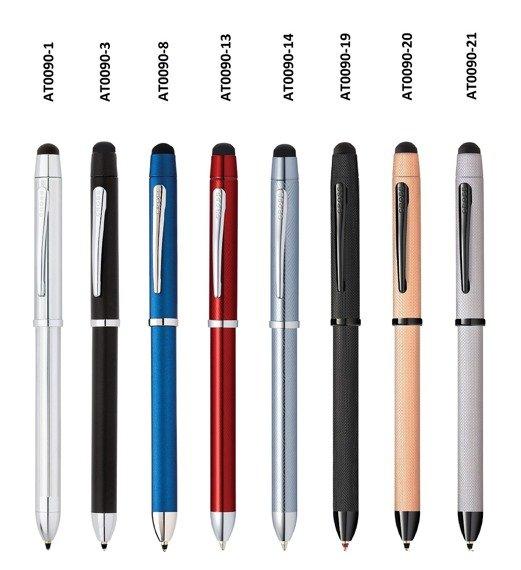 Długopis, ołówek i stylus Cross Tech3+ chrom, elementy czarne