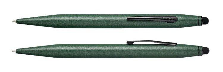 Długopis ze stylusem Cross Tech2 zielony, elementy czarne