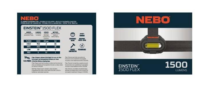 NEBO® Latarka-czołówka Einstein™  Flex 1500 lumenów