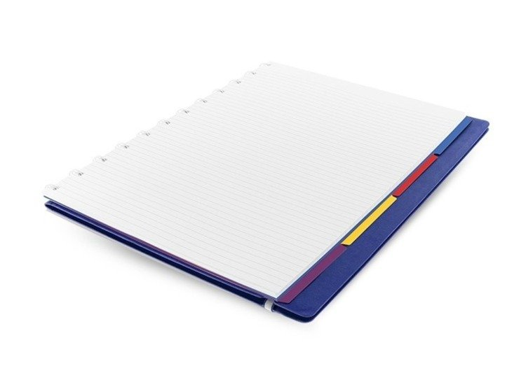 Notebook fILOFAX CLASSIC A4 blok w linie, niebieski