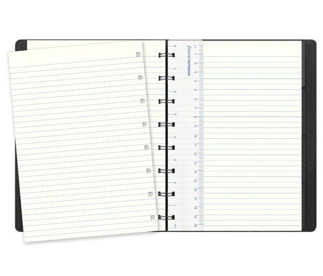 Notebook fILOFAX SAFFIANO A5 blok w linie, srebrny
