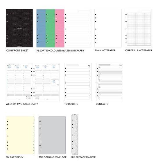 Organizer fILOFAX DOMINO A5, czarny