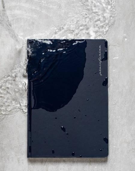PININFARINA Segno Notebook Stone Paper, notes z kamienia, niebieska okładka, blok gładki