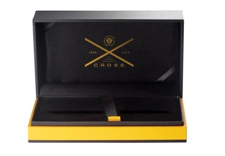 Pióro wieczne Cross Townsend czarne, elementy pokryte 23k złotem