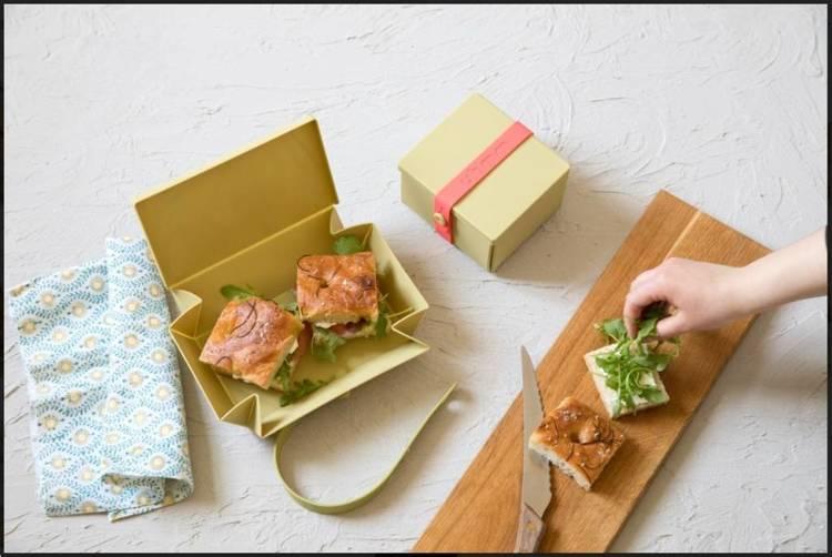 Uhmm Box 01 Prostokątne pudełko na żywność, oliwkowe