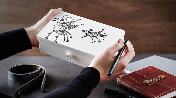 Uhmm Box 01 prostokątne pudełko na żywność, białe