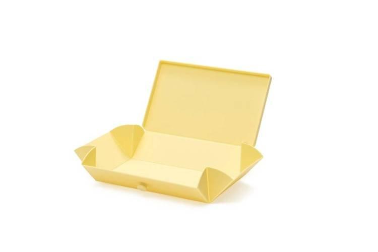 Uhmm Box 01 prostokątne pudełko na żywność, żółte