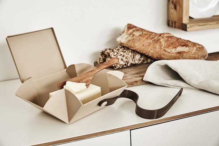 Uhmm Box 02 pudełko na żywność, jasnobrązowe